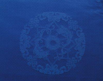 南庄万科�_【蓝色簟锦纹暗花绸夹袍】