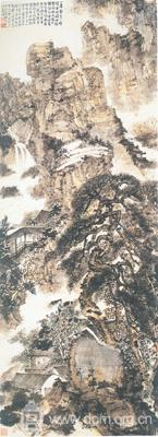 《仿石涛山水》(1943年)
