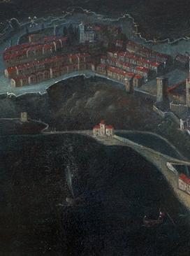 油画《摩纳哥要塞》