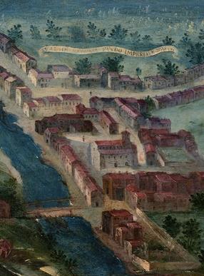 油画《贝多纳谷风景》