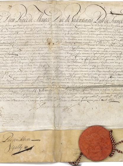 路易一世亲王签署的诏书