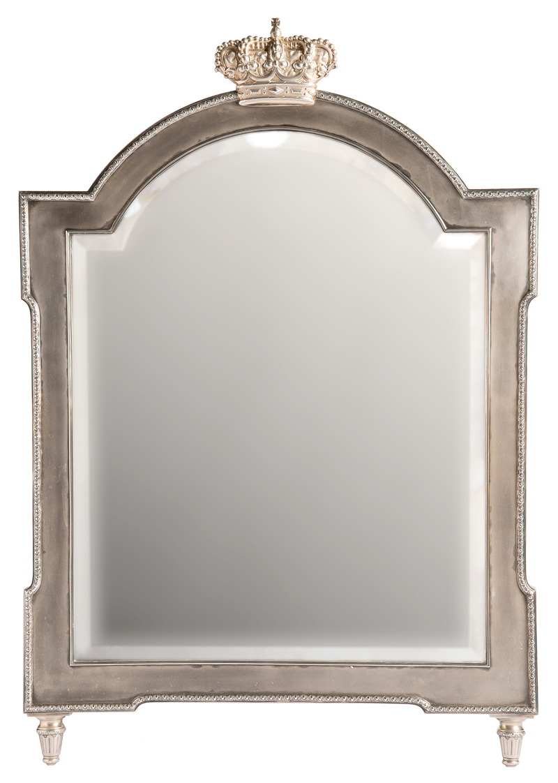 一面银制桌镜