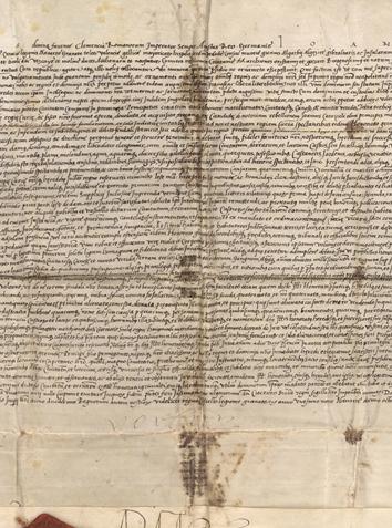 查理五世赠予摩纳哥亲王的羊皮纸文稿