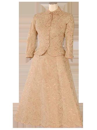 格蕾丝王妃公证大婚之日所穿的女士套装
