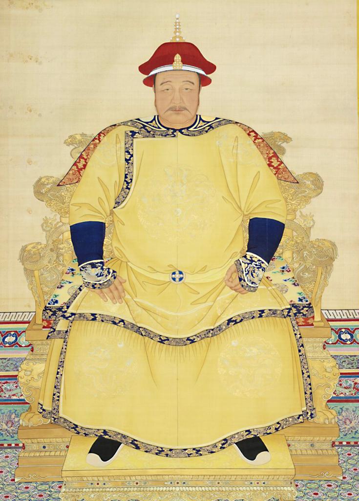 清太宗皇太极天聪汗爱新觉罗·皇太极像