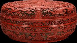 剔红漆飞龙宴盒