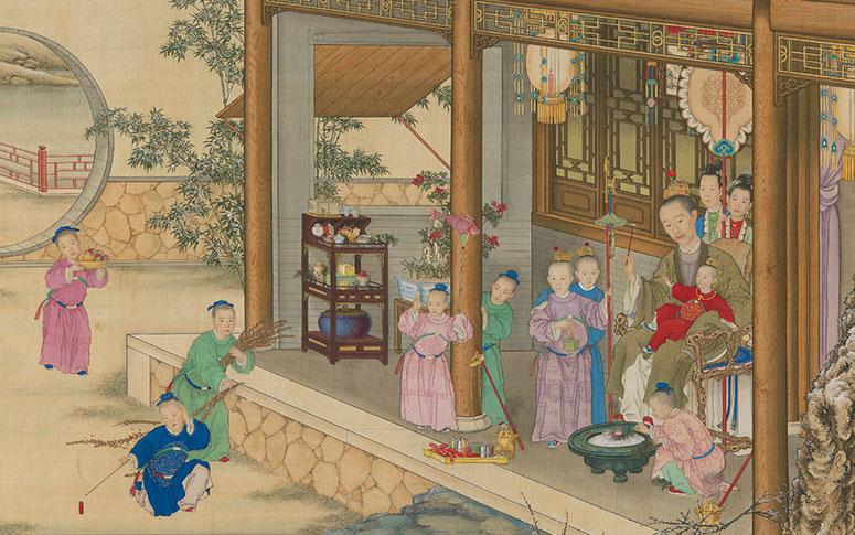 清人绘 《乾隆帝朝岁行乐图》