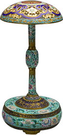 画珐琅花卉纹冠架