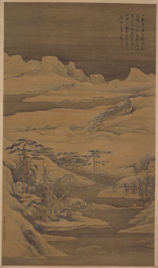 高凤翰雪景山水图轴