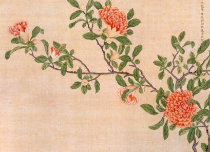 清乾隆 缂丝御制诗花卉图册